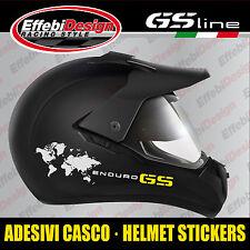 Adesivi Stickers helmet casco black BMW GS 1200 R ADVENTURE ENDURO 30th panniers