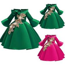 Kids Flower Girls Birthday Party Ball Gown Wedding Bridesmaid Pageant Dresses