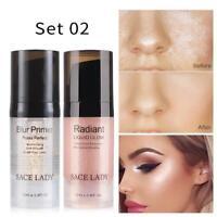 SACE LADY Pores Invisible Face Primer Makeup Base + Liquid Highlighter Face Glow