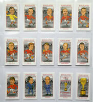 ENGLAND 1966 WORLD CUP WINNERS COLLECTABLE CARD SET CARICATURES