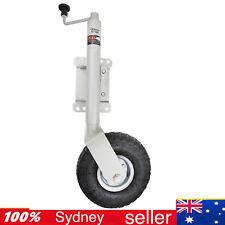 """10"""" Jockey Wheel Swivel Heavy Duty Pneumatic Swing Up -Trailer Caravan or Boat"""