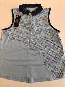 Under Armour New Iso-Chill Sleeveless Golf Polo Shirt Women's Med UW0489 $80