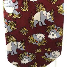 Vintage Kong Silk 49 HangGai Endangered Panda Bear Silk Hand Made Neck Tie