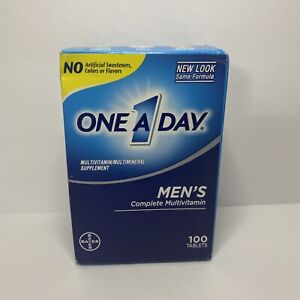 One A Day Men's Complete MultiVitamin Multi mineral Supplement 100 Tablets 05/22