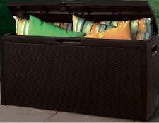 """Baule da esterno """"RATTAN BOX"""" capacità 265 litri S 1464 7111 marca ESCHER"""