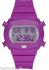 NEW ADIDAS CANDY PURPLE DIGITAL POLYURETHANE  DIGITAL WATCH-ADH6112