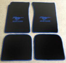 Autoteppich Fußmatten für Ford Mustang Fastback 1964-68 schwarz blau Velour 4tlg