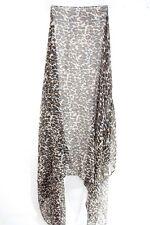 Elegante Damas Blanco/Estampado de Leopardo Sassy retro inspirado Chic Bufanda único (MS37)
