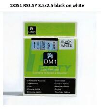 "DYMO Compatible RhinoPRO HeatShrink 6mm Cable Label Tube 1/4"" x 5' Blk/Wht 18051"