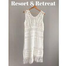 White Lace/Crochet Gypsy, Bohemian, Bride, Evening, Dress, New, Size 12-14