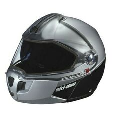 New 2020 Ski-Doo Modular 3 Snowmobile Helmet Silver - 448529_08