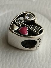 Genuine Pandora Struck By Love Heart Charm 792039CZ New With Pouch S925 ALE