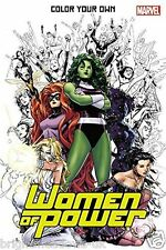 Marvel Women of Power Superhero Comic Adult Colouring Book Manga Graphic Costume