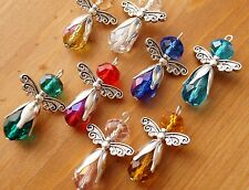 8x Mix Handmade Guardian Angel Fairy Charms Pendant Faceted Crystal Beads