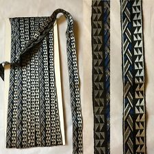 VTG 1920-30' Art Deco Woven Fabric  Trim. 12 Yards . Beautiful & Elegant.