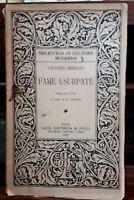 Fame usurpate -  Vittorio Imbriani - G. Laterza e figli, 1912
