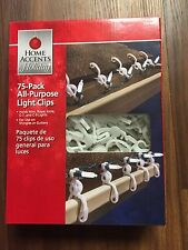 75 All-Purpose Christmas Light Clips Gutter Hooks Shingle Mini Rope LED C7 C9