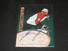 DAINIUS ZUBRUS ROOKIE GENUINE CERTIFIED AUTHENTIC SIGNED AUTOGRAPHED HOCKEY CARD