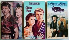 Lot Of 3 Vhs Videotapes, Burt Lancaster, Vera Cruz+Crimson Pirate+The Flame And