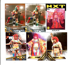 Asuka Wrestling Lot of 6 Different Trading Cards 1 Insert WWE NXT A-A1