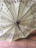 Vintage Cane Crook Handle Umbrella Parasol Cover Free 🇬🇧P&P