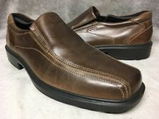 Men's ECCO Helsinki Bike Toe Slip On Loafer EU 44 / US 10 - 10.5 Brown Leather