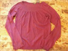 ladies NICOLE MILLER SWEATER shirt FULL purple MODERN soft WORK CAREER small