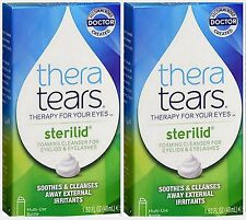 Thera Tears STERILID EyeLid & Eyelash Cleanser Eye Care 1.62 oz ( 2 pack )