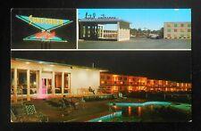 1950s Sundowner Motor Hotel Route 66 Pool Night View Old Cars Albuquerque NM PC