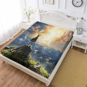 The Legend of Zelda Fitted Sheet 3PCS Mattres Cover Bed Sheet Pillowcase Gifts