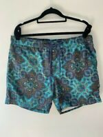 Mens Country Liberty Print Board Shorts - Hippy/Boho - size M - elastic and tie