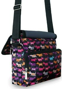 Ladies Nylon Cross Body Bags Dog Print Lightweight Shoulder Bags Messenger Bags