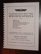 Black & Decker Valve Tool / Seat Grinder Spec Manual