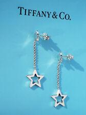 Tiffany & Co Sterling Silver Star Link Drop Earrings
