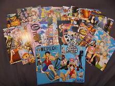 One Piece Anime Postcards Art Cards HUGE LOT W BOX