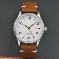 42mm Corgeut / Sterile Dial Sapphire Glass White Dial  Automatic Mens Watch