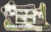 BC662 2011 GUINEA-BISSAU FAUNA WILD ANIMALS WWF GIANT PANDA GIGANTE KB MNH