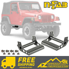 N-FAB Universal Detachable Side Step Pair for Rock-Rails - Matte Black JPTS32