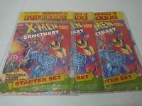 (Lot of 3) Marvel X-Men Sanctuary Starter Set Sticker Album + Sticker Panini