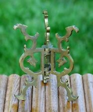 """Vintage Folding Dragon Head Display Stand Heavy Solid Brass 4 3/4"""""""