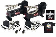Viair 444C Black Air Compressors Dual Pack 150psi On - 180psi Off & Free TShirt