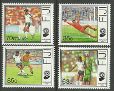 FIJI 1989 WORLD CUP FOOTBALL Set 4v MNH