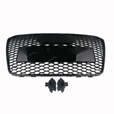 Glossy Black Front Center Grille HEX Sport Mesh For Audi A5 S5 13-16 RS5 Style