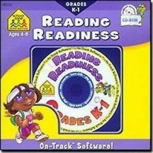 School Zone Reading Readiness, Ages 4-6, Grades K-1 - CD-ROM - Disk Only