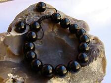 Men's Natural Gemstone Bracciale tutti 12 mm Nero Ossidiana Beads