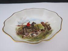 Royal Crown Derby dipinti a mano Pin Ciondolo Vassoio scena di caccia firmato J Doyle