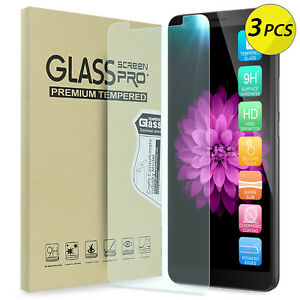 [3-Pack] TJS For Alcatel 3V 2019 Clear Premium Tempered Glass Screen Protector
