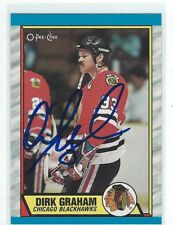 Dirk Graham Signed 1989/90 O-Pee-Chee Card #52