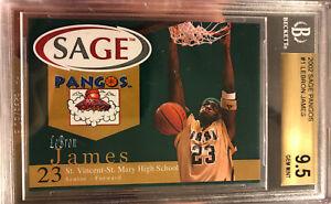 2002-2003 Sage Pangos Lebron James Rookie XRC #1 BGS 9.5 10 Sub Beckett Lakers