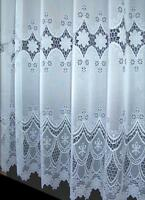 "STAR  LUXURY WHITE NET CURTAIN Drop Sizes 36"" to 81"""